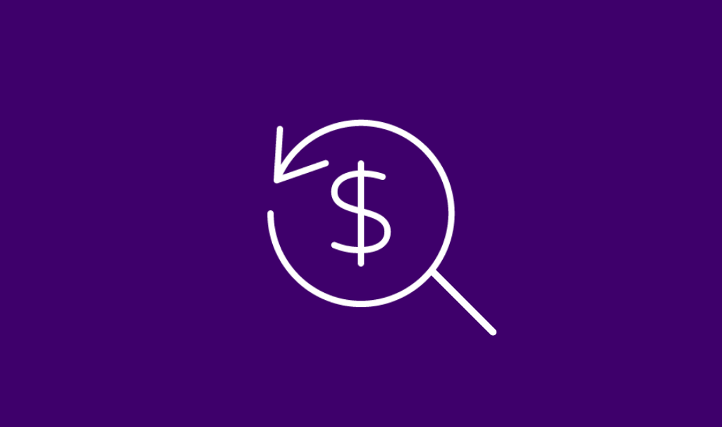 Icon of a dollar sign and search magnifying glass indicating healthcare price transparency
