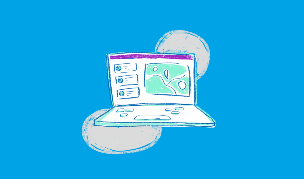 Illustration of a computer with a digital healthcare guidance solution