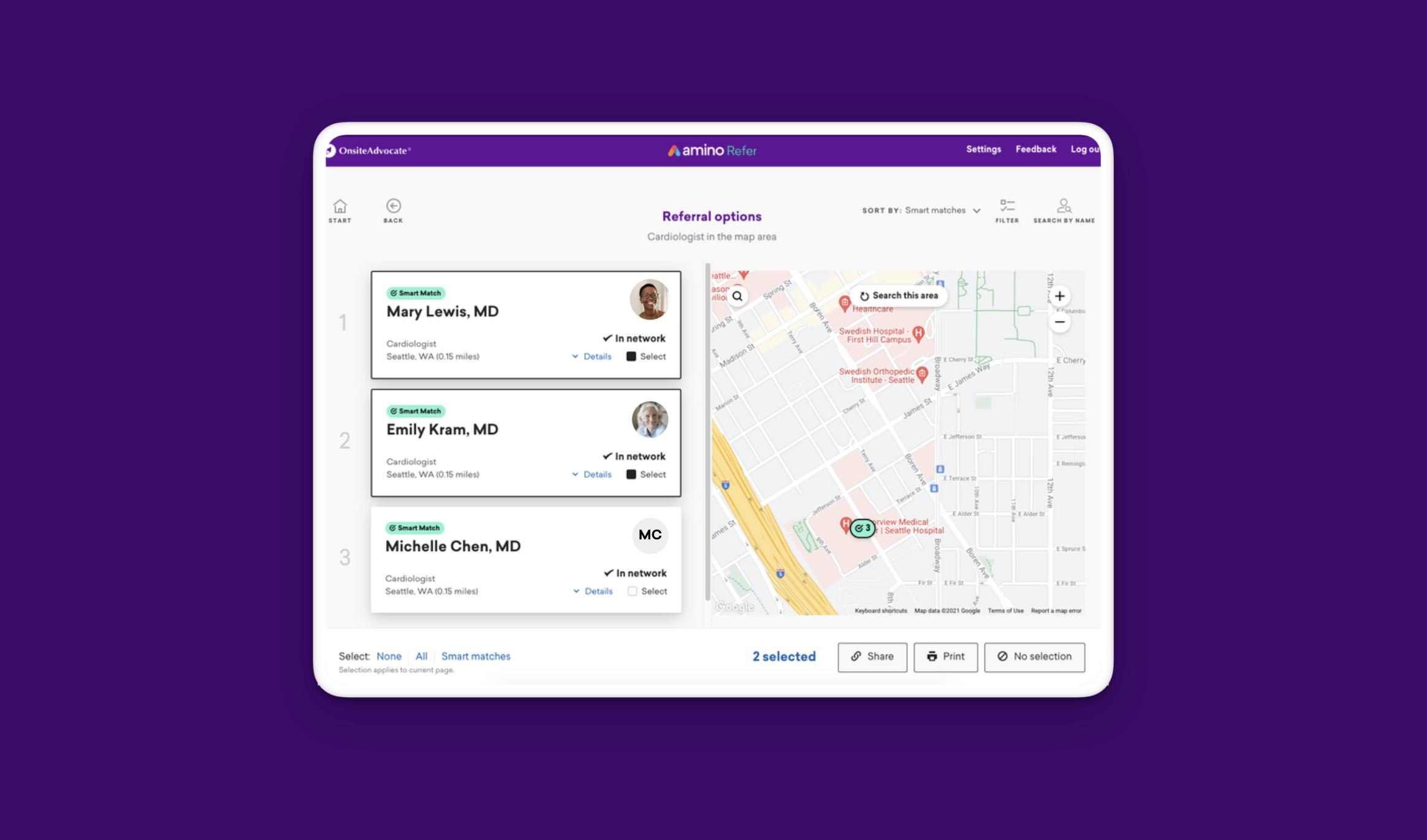 Screenshot shows new multi-select interface