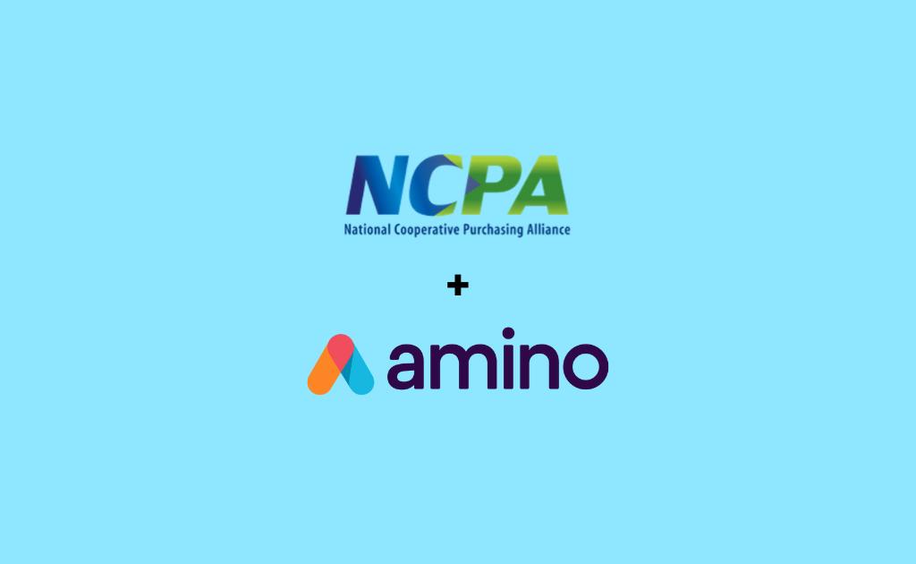 National Cooperative Purchasing Agency and Amino logos