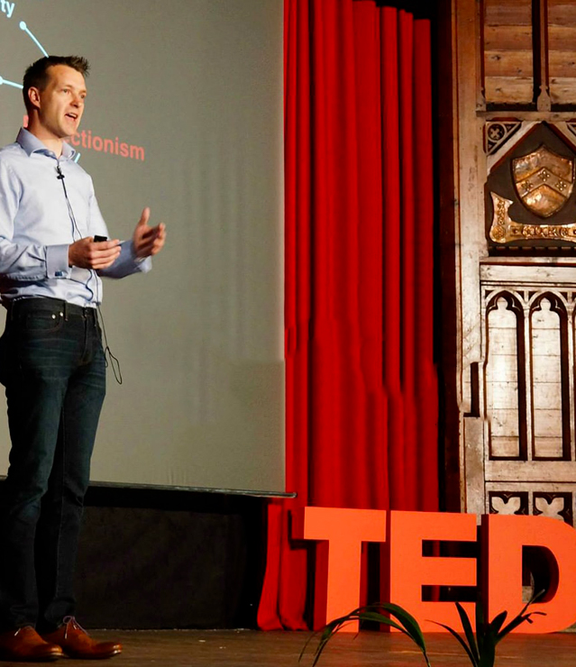 Geoff Talking at a Ted Talk