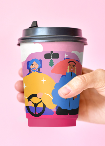 Coffee cup heetch