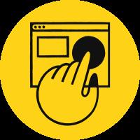 Gult ikon Webhuset