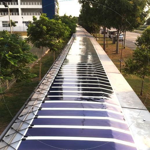 Solivus solar film in the sun