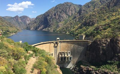 The Cahora Bassa hydroelectric scheme in Mozambique.
