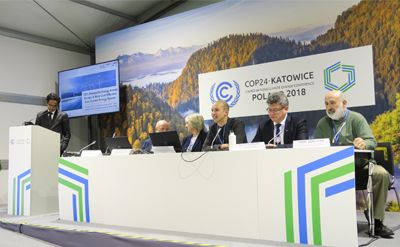 IHA Senior Analyst Mathis Rogner addresses a COP24 side event hosted in partnership with the REN Alliance.