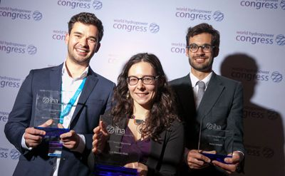 The recipients of the IHA Young Researcher Award at the 2017 World Hydropower Congress