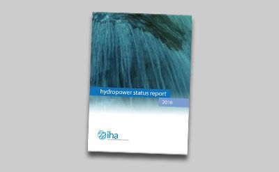 Cover of the 2016 Hydropower Status Report