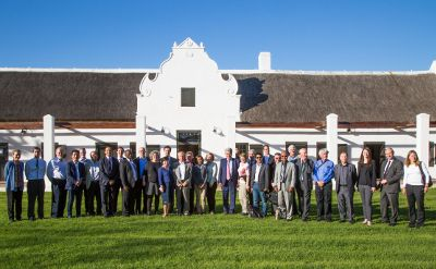 Photograph of members of the new REN21 steering committee in Stellenbosch, South Africa