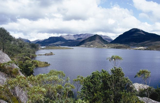 Lake Plimsoll was recently named one of the three most promising sites for pumped storage in Tasmania. Credit: Hydro Tasmania.