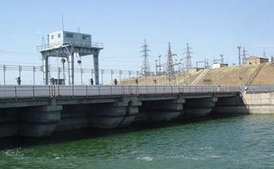Shardara hydropower plant, Kazakhstan