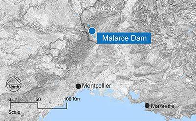 Malarce map