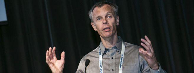 Atle Harby speaking at World Water Week