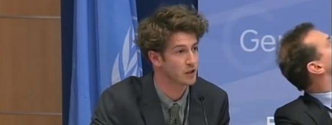 Simon Howard speaking at UN Water Conference in Zaragoza