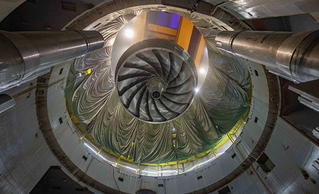 The world's largest turbine produces renewable energy