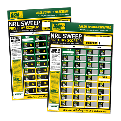 Rugby League First Try Scorer Sweeps