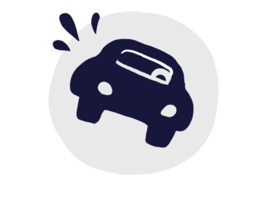 Icon of car collision