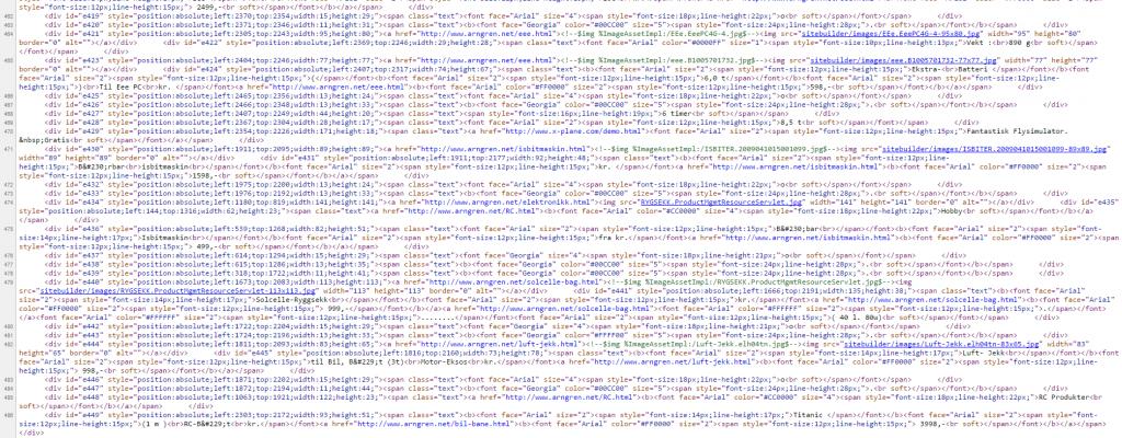 arngren søkemotoroptimalisert kildekode webhuset illustrasjon