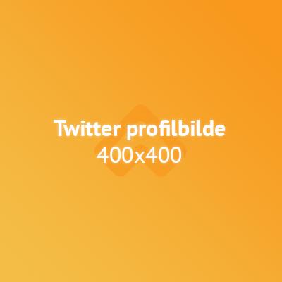 Twitter profilbilde bildestørrelse illustrasjon