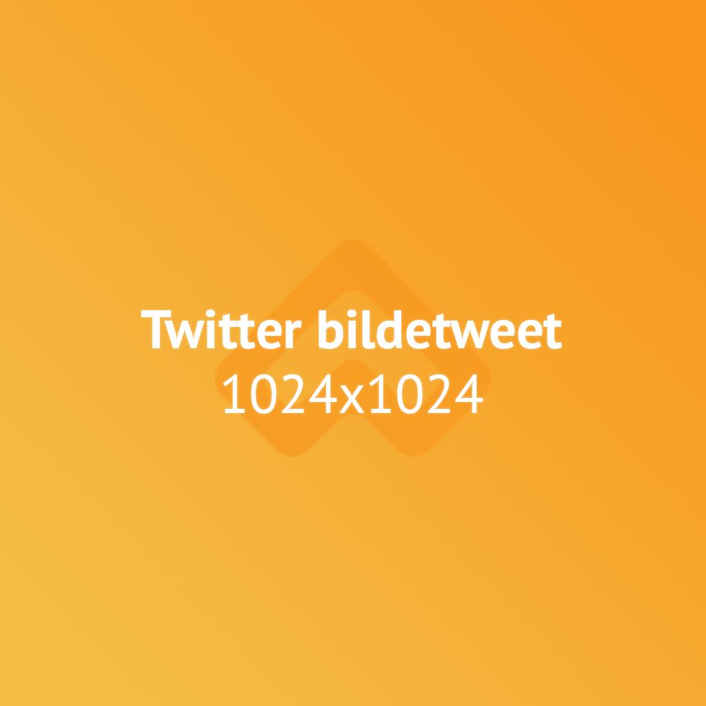 Twitter bildetweet bildestørrelse illustrasjon