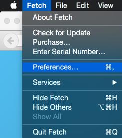 Visning av skjulte filer  Fetch