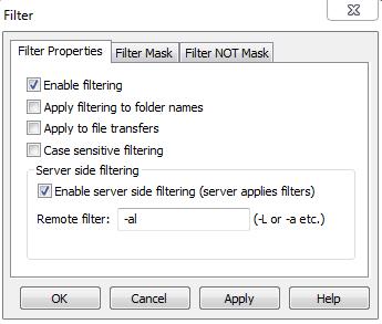 Visning av skjulte filer i CuteFTP 9.0