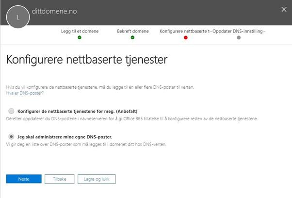 Velg DNS eller Microsoft