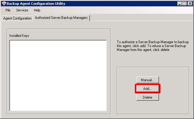 Authorized Server Backup Mangers