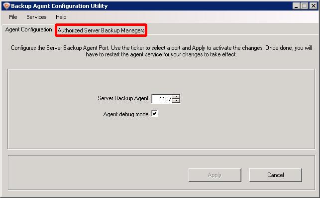 Hvordan installere backupagenten