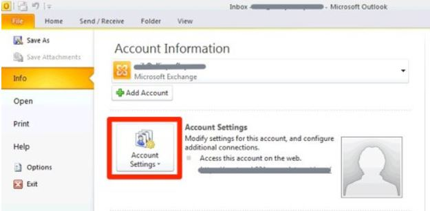 Epostkonto i Outlook 2010
