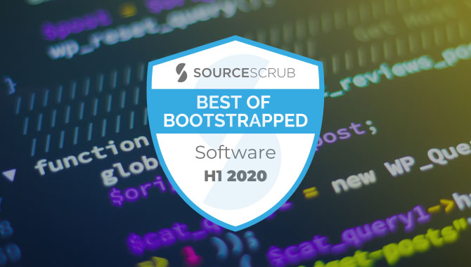 Best of Bootstrapped in Software, H1 2020