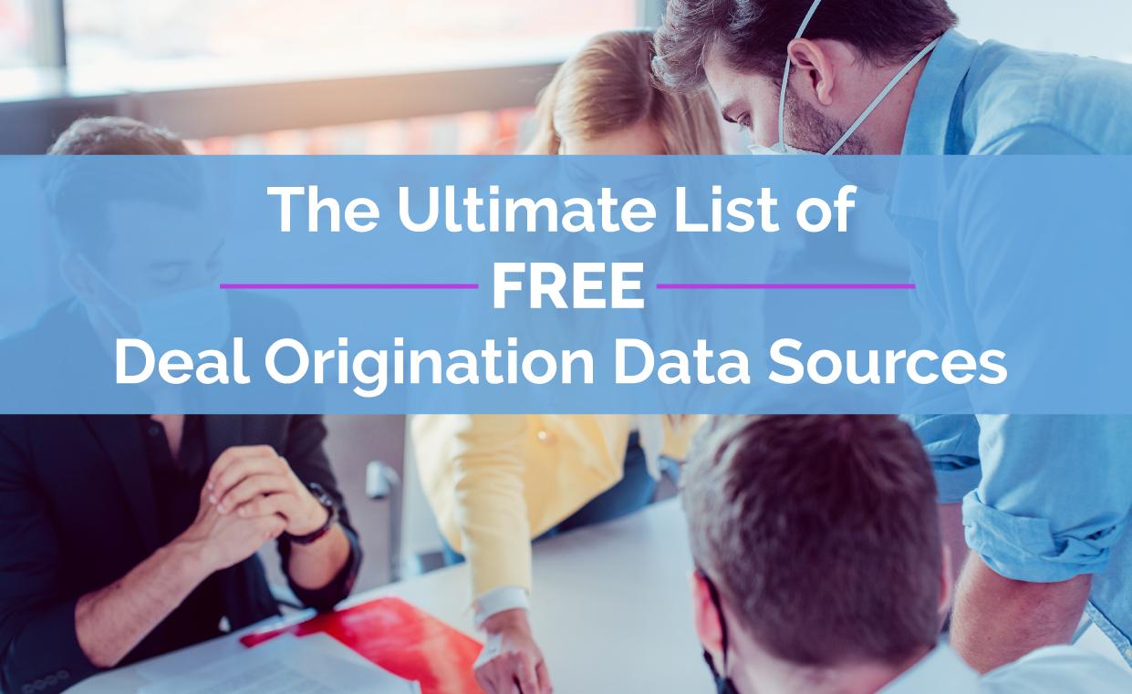 Free Deal Origination Data Sources