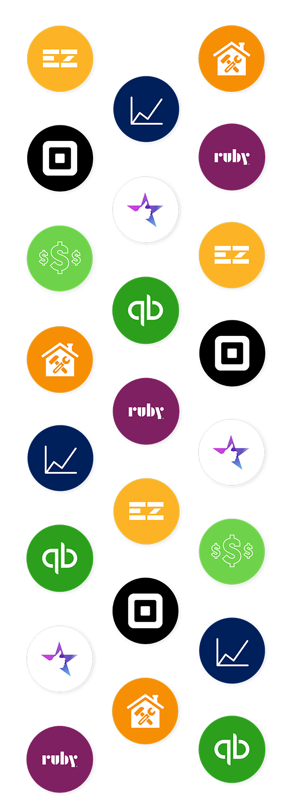 Icons of available integrations