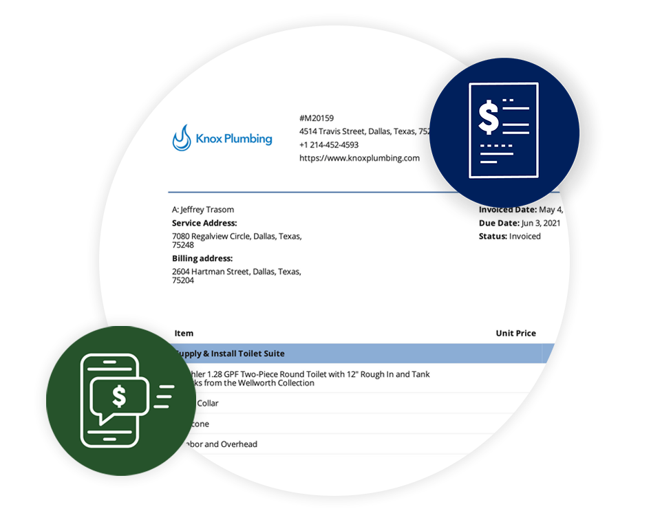 Icon displaying invoice capabilities