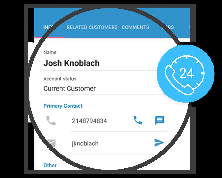 Icon displaying customer information