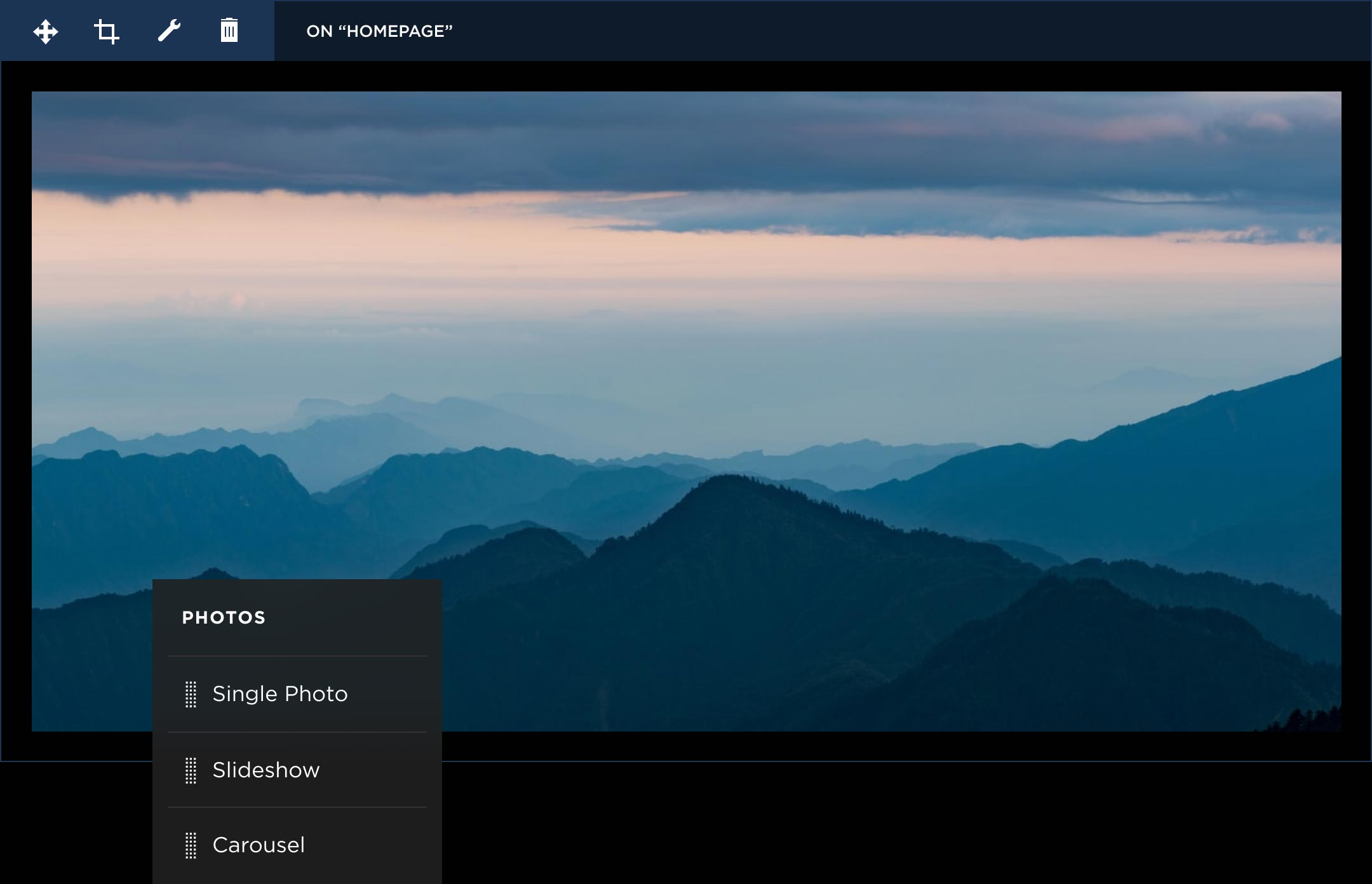 photo website builder