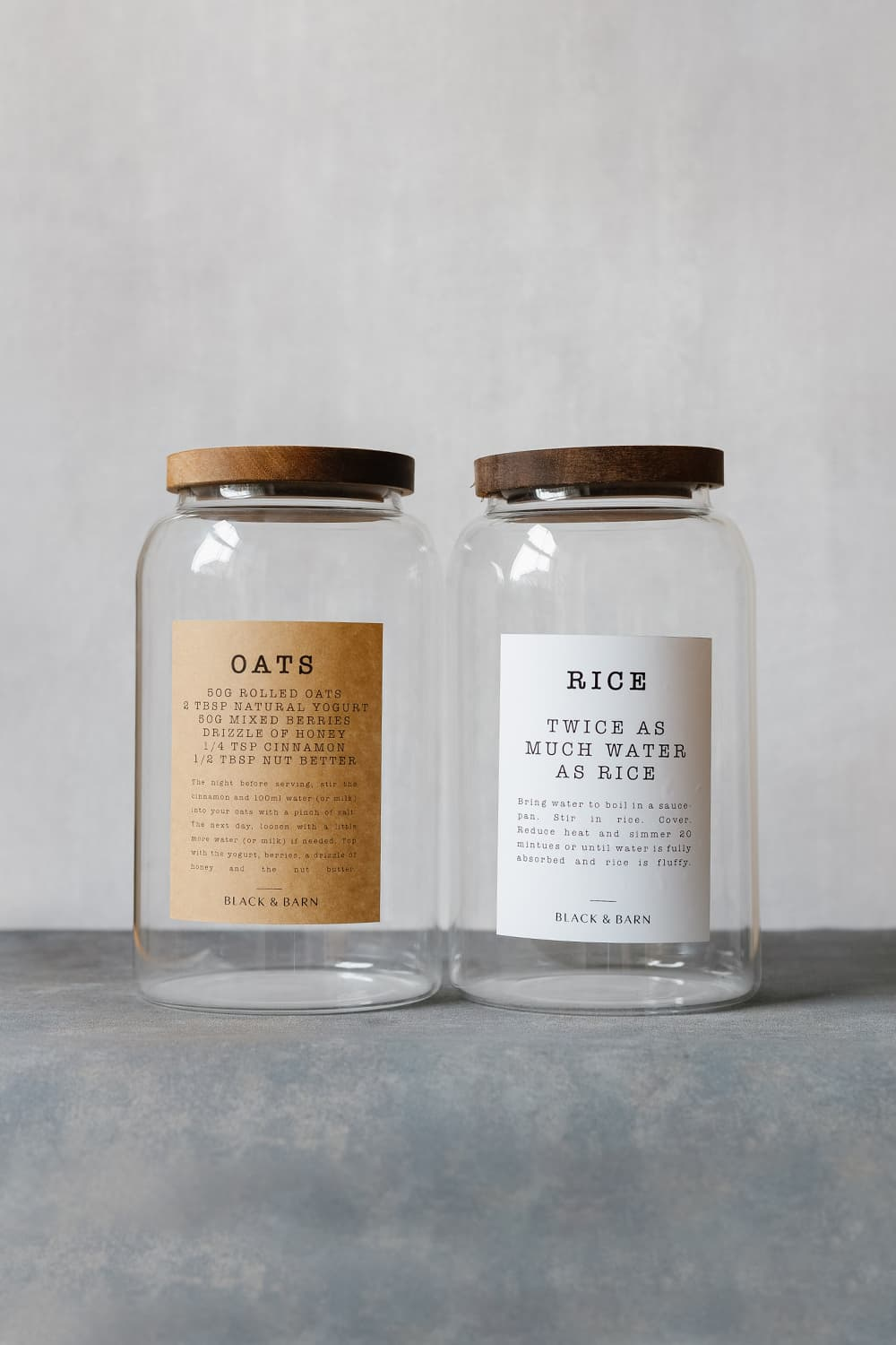Pantry Jar with Ingredients Label - 4 Litres