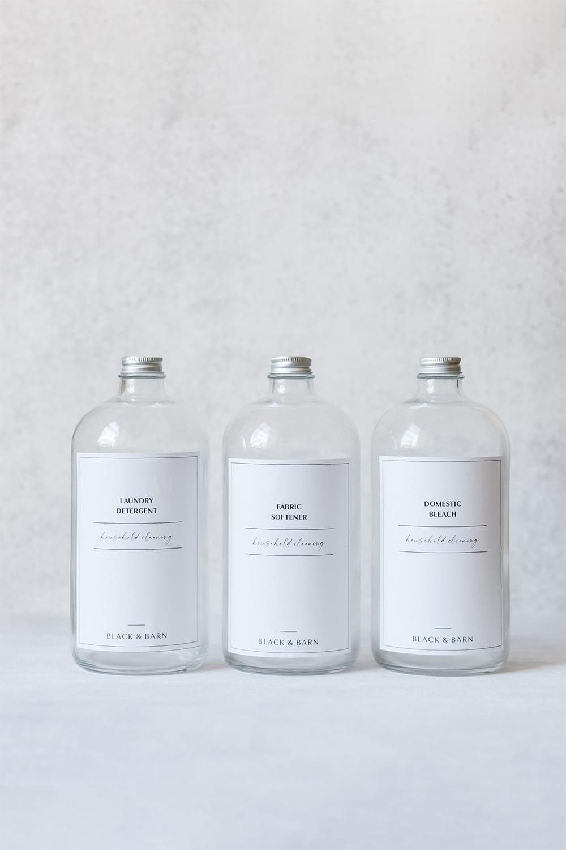 Clear Utility Bottles - 3 x 1Litre