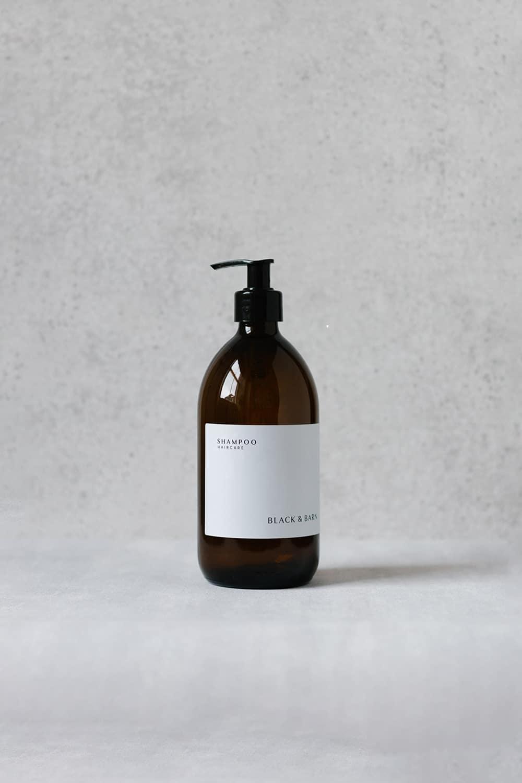 Pump Bottle with Waterproof Label - 500ml