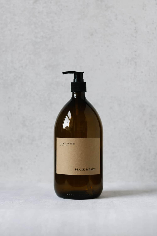 Pump Bottle with Kraft Label - 1L