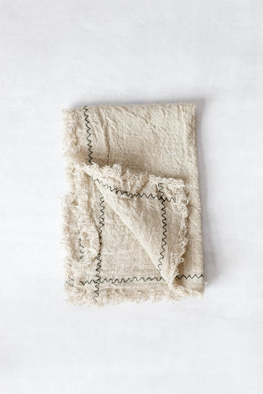 Linen Towel in Dusty Cream