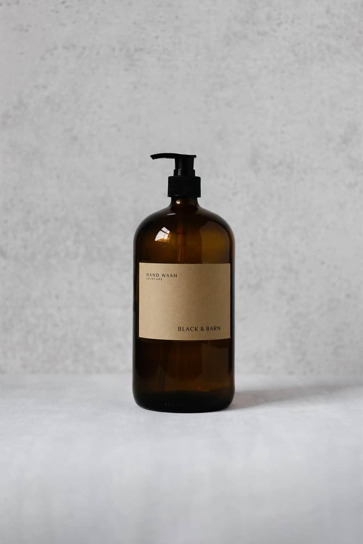 1L Luxury Pump Bottle with Brown Kraft Label