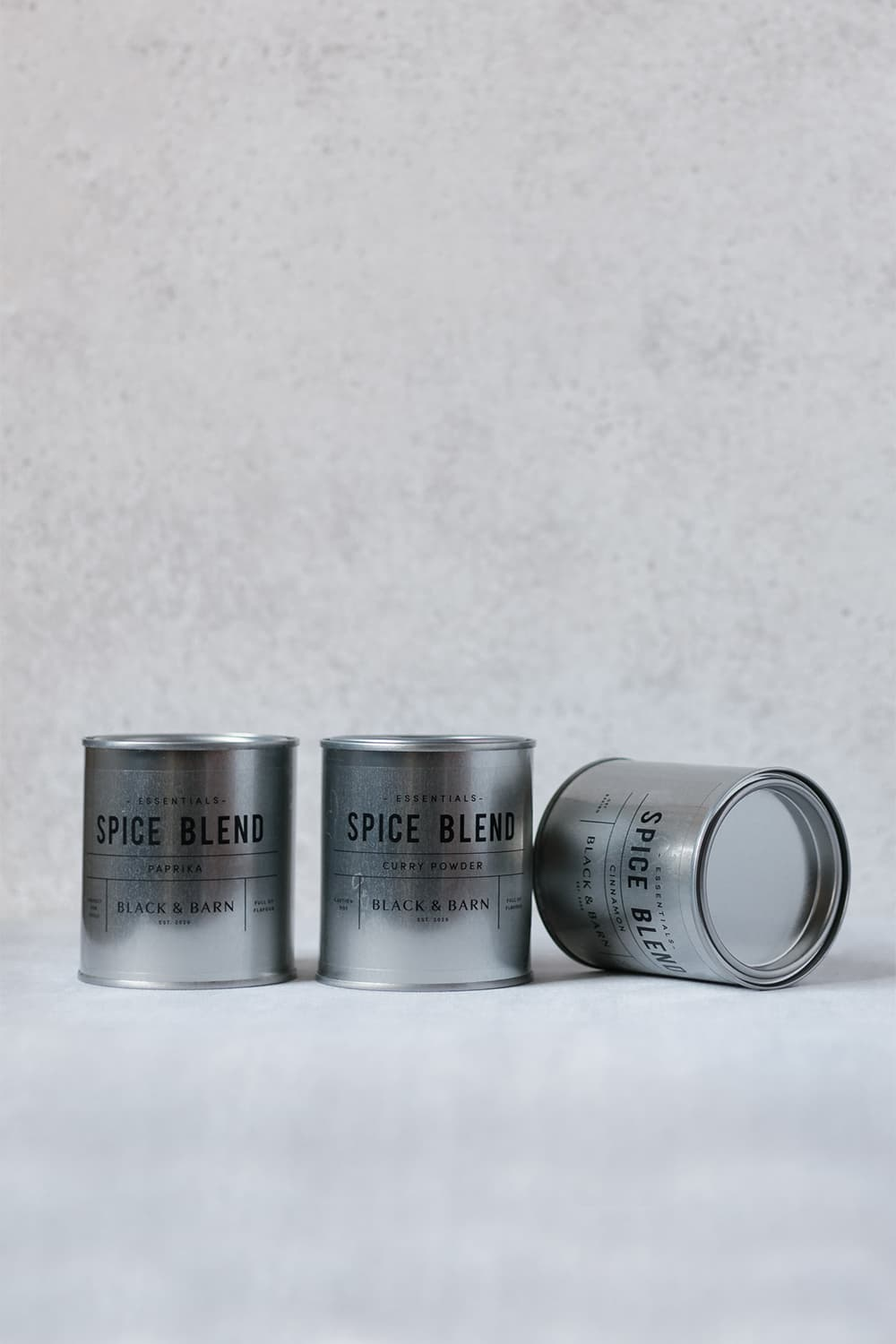 Steel Spice Blend Tin with Clear Label