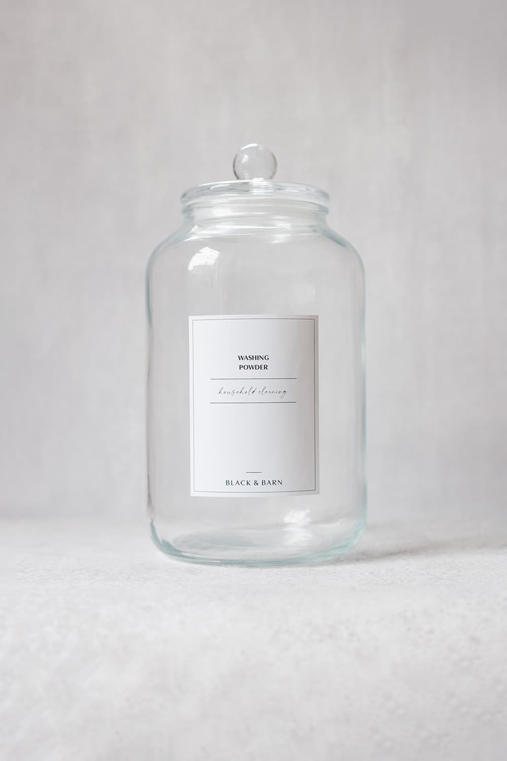 Glass Ball Jar with Waterproof Label- 5-Litre