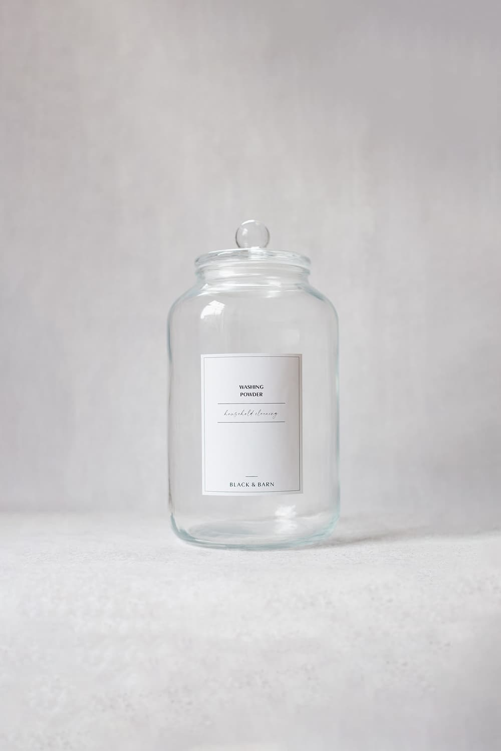 Glass Ball Jar with Waterproof Label- 3-Litre