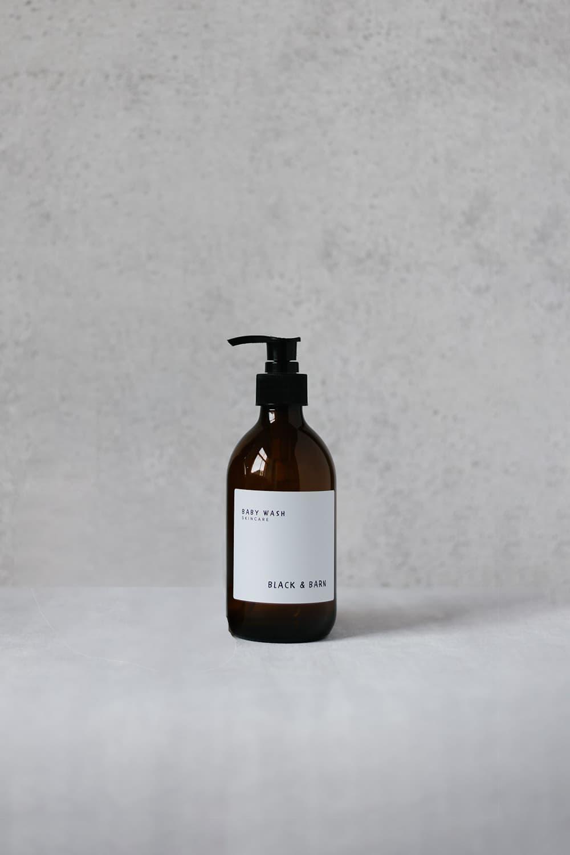 Pump Bottle with Waterproof Label - 300ml