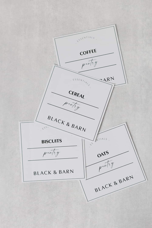 Luxury Pantry Label