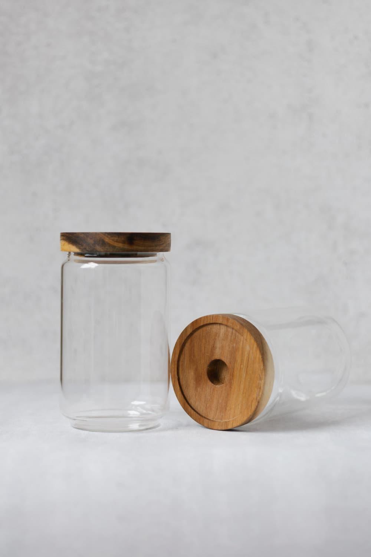 Clear Bamboo Pantry Jar - 700ml
