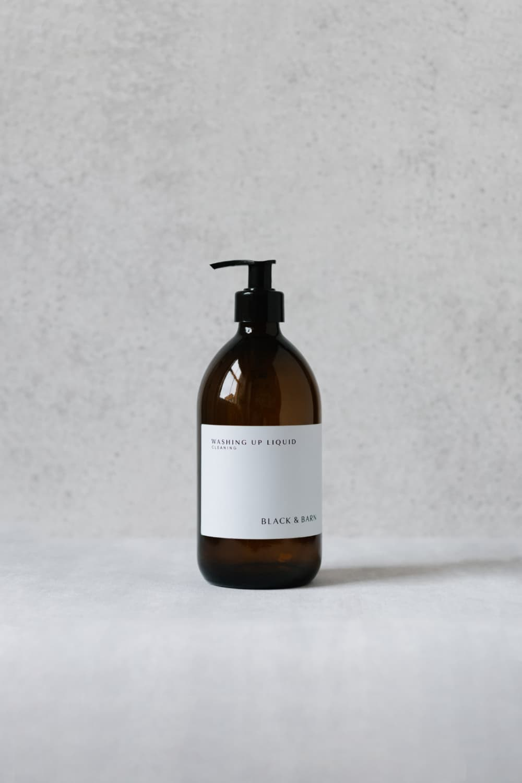 500ml Pump Bottle with White Waterproof Label
