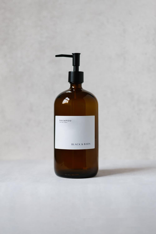 Luxury Pump Bottle with Waterproof Label - 1 Litre
